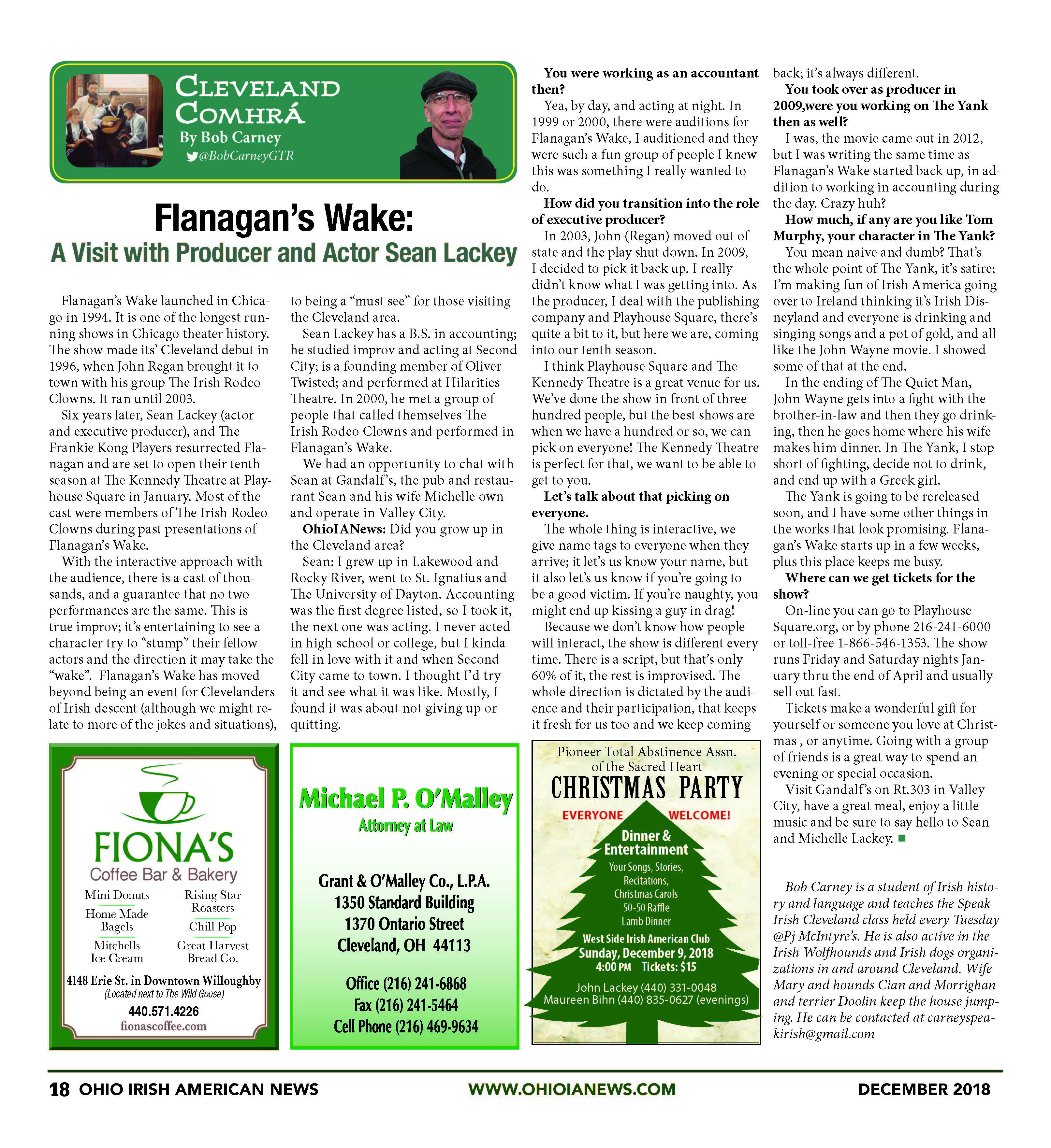 Cleveland Comhra (Conversation): Flanagan\'s Wake w Producer and ...